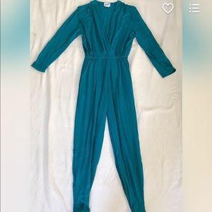 Deadstock Vintage Mooncraft Turquoise Jumpsuit